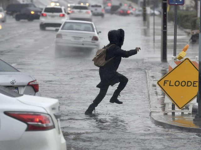 Storm brings flood fears to Southern California burn areas