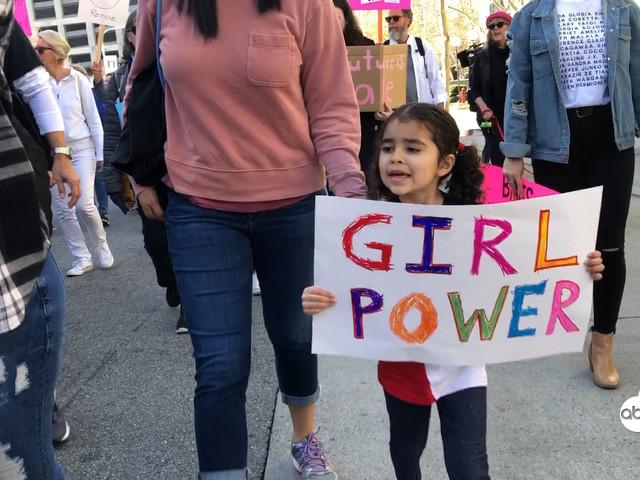 Women's March LA: Children also demand women's rights alongside parents