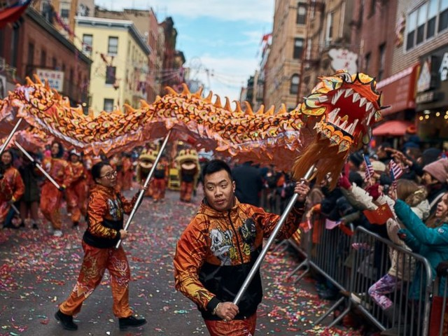 NYC's Chinatown welcomes Year of the Pig with vibrant parade