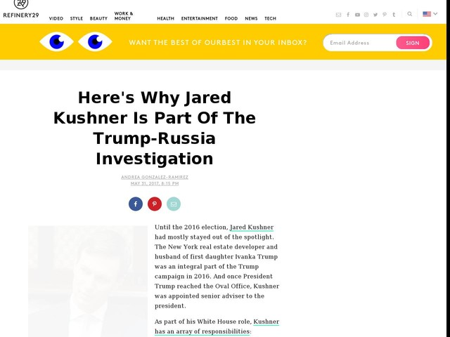 Here's Why Jared Kushner Is Part Of The Trump-Russia Investigation