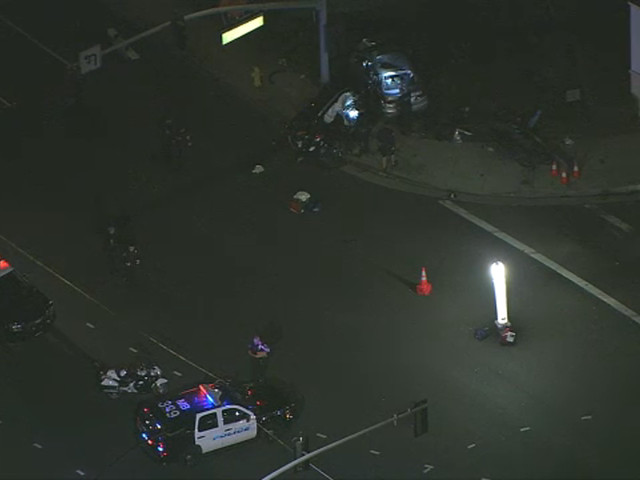 At least 1 killed in violent crash in Hermosa Beach, prompting DUI investigation