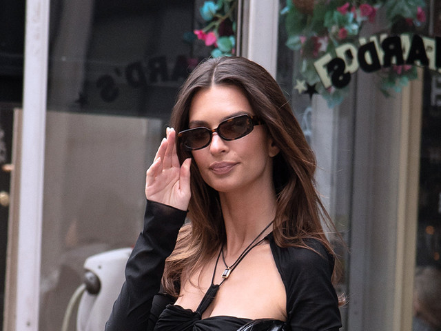 Emily Ratajkowski Blends Two Trends in One With a Sheer Cut Out Dress & Strappy Heels at the Tribeca Film Festival 2021