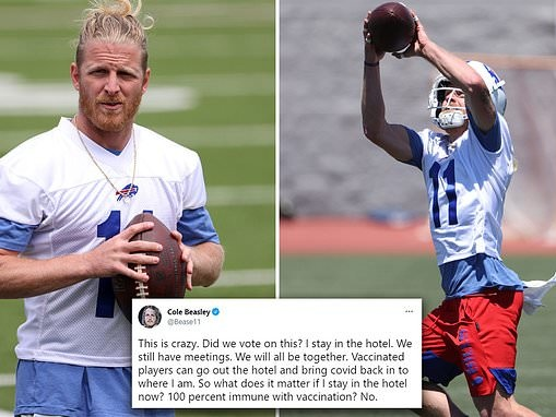 Unvaccinated Buffalo Bills receiver Cole Beasley slams NFL's 'crazy' new COVID-19 protocols