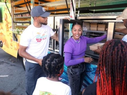 Steph And Ayesha Curry Unveil New 'Eat. Learn. Play Bus' To Provide Resources And Boost Child Literacy