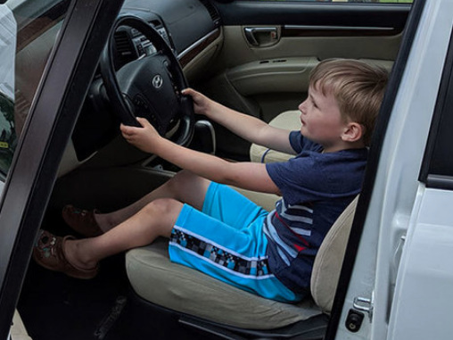 4-year-old Trades Booster Seat for the Driver's Seat
