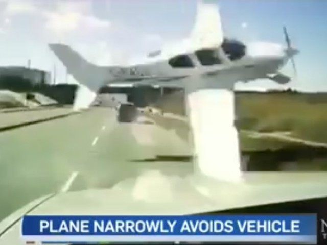 A driver's dash cam captured the moment a small plane narrowly missed hitting his truck before it crashed near Toronto