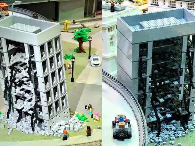 'Leaning Tower Of Dallas' Commemorated In LEGOs