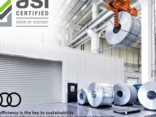 Audi is the First Car Manufacturer to be Awarded the Chain of Custody – the Certificate of the Aluminium Stewardship Initiative