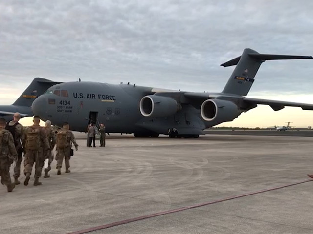 Military planes carrying 180 tons of aid for Venezuelans fly from Miami to Colombia