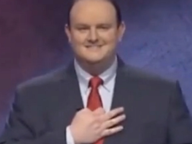 500-plus former 'Jeopardy!' contestants go berserk over winner allegedly flashing white power sign. He says he was holding up 3 fingers to signify 3 wins.