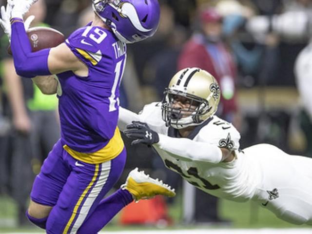 In Vikings' wild-card win over Saints, Adam Thielen returns as a deep threat