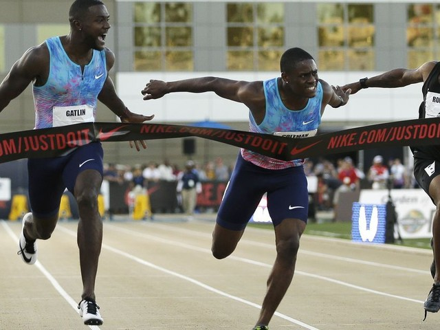 Justin Gatlin holds off Christian Coleman to win U.S. title at 100