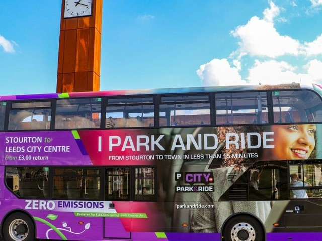 New Leeds Park & Ride Launched with Five BYD ADL Enviro400EV Electric Double-Deckers