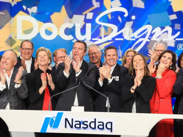 DocuSign pops up 37% in its long-awaited IPO — now its CEO and CFO explain what's next (DOCU)