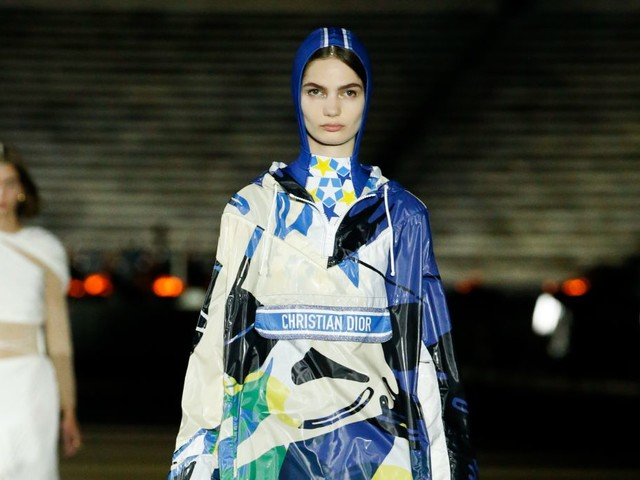 Christian Dior's Cruise 2022 Athens Show Paired Sneakers With Grecian Gowns and Summer Travel Friendly Sportswear