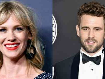 New Details About January Jones Dating Former Bachelor Nick Viall (After She Admitted To Having A Crush On Him Before They Met)