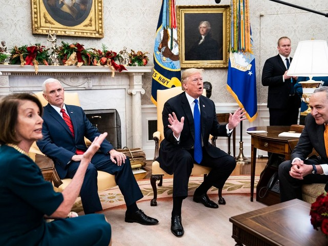 Trump, Pelosi and Schumer have on-camera shouting match as wall talks break down