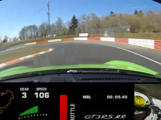 Watch The Porsche 911 GT3 RS MR Lap The Nurburgring In 6:49