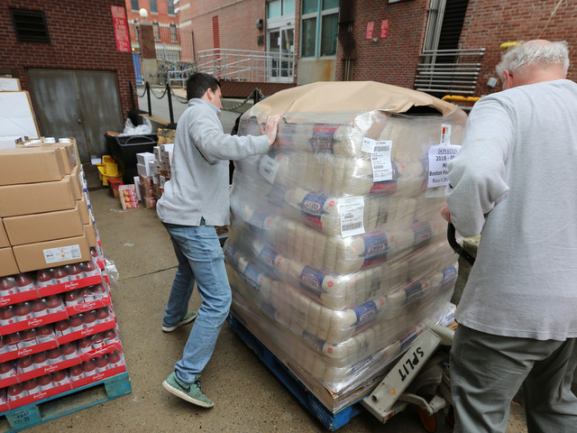 'Tidal Wave': Hundreds Of Coast Guard Families Show Up To Pop-Up Boston Food Pantry