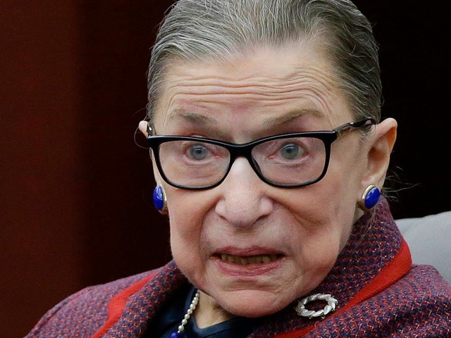Vandals deface Ruth Bader Ginsburg poster in New York City with Nazi symbols