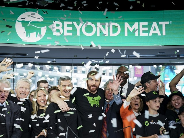 Beyond Meat soars 20% after crushing expectations for its first earnings report as a public company (BYND)