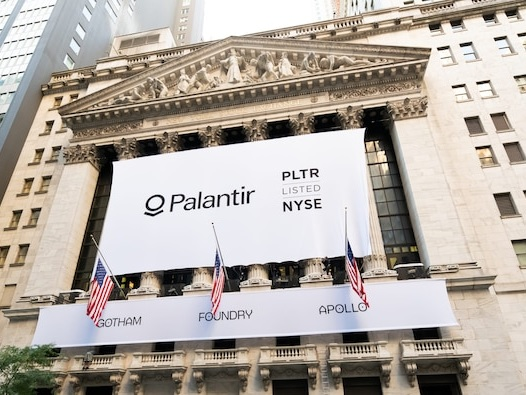 Palantir falls, extending slide to over 45% since hitting a record-high share price in January