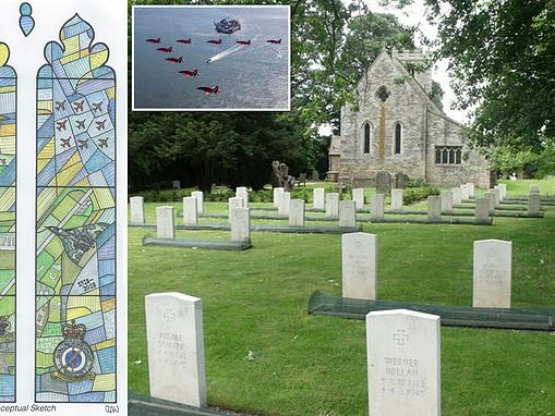 RAF stained-glass window tribute to Red Arrows and Dambusters is too 'triumphalist'
