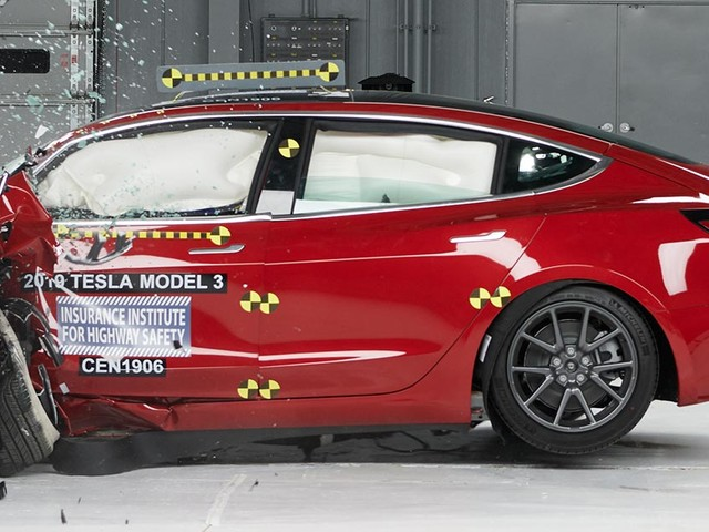 Tesla earns its first award from IIHS