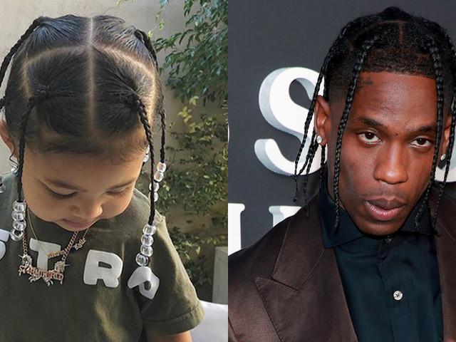 Travis Scott Shares Cute Photos of Daughter Stormi Rocking 'Daddy's Hair'