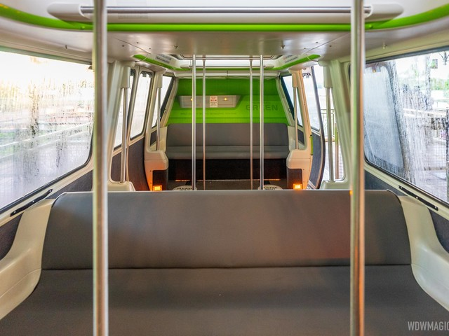 Plexiglass dividers removed from the Walt Disney World monorails as capacity is increased