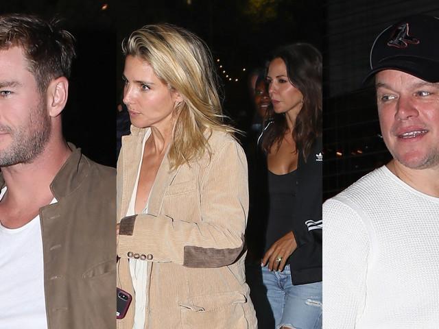 Chris Hemsworth & Matt Damon Double Date with Their Wives!