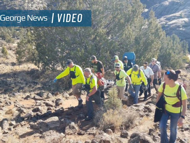 Washington County search and rescue teams make 122nd save of the year count, carrying injured hiker almost 2 miles through sand, rocks