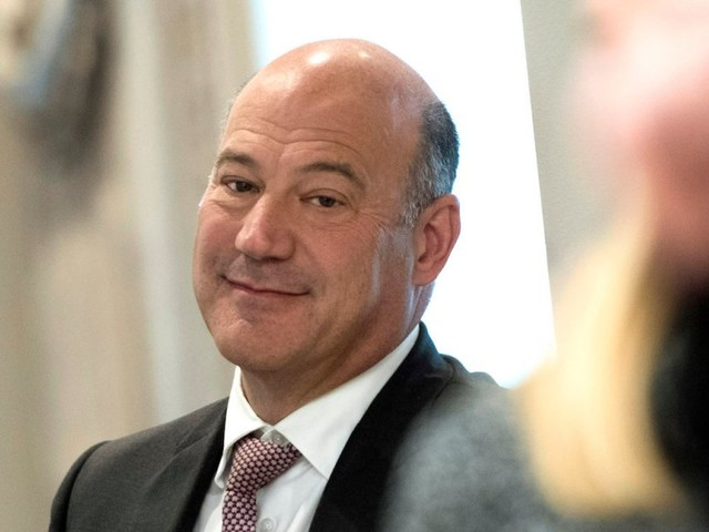 Gary Cohn says he's 'here next week' when asked if he'll stay with Trump administration