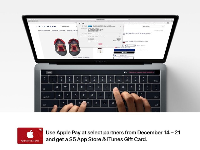 Apple promoting holiday Apple Pay use w/ $5 iTunes gift card for shopping at select retailers
