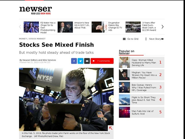 Stocks See Mixed Finish
