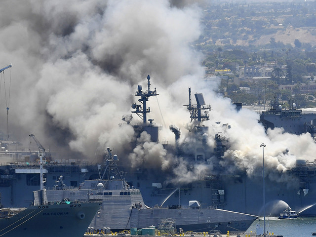Sailor charged in connection to 2020 fire that destroyed $1 billion Navy ship in San Diego