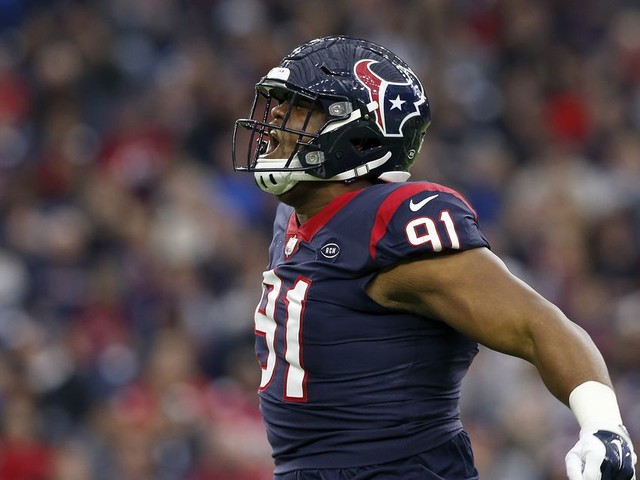 Carlos Watkins is a big ol' dump truck on the field when the Texans let him play