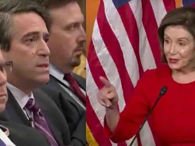 'Testy' Nancy Pelosi calls journalist James Rosen 'Mr. Republican Talking Points' after his whistleblower question — and she gets taken to task