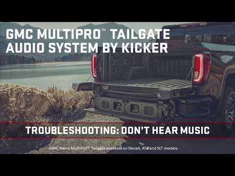 See Why You Don't Hear Music Playing in Your GMC MultiPro Tailgate Audio System By Kicker