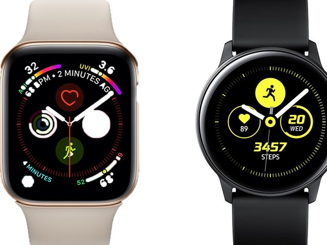 Samsung Galaxy Watch Active vs. Apple Watch Series 4: rival wearables compared