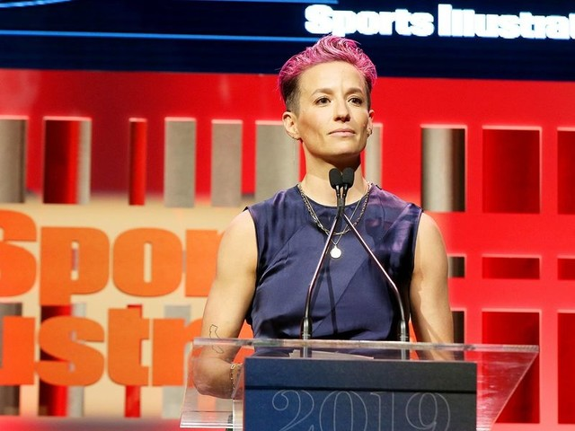 US Soccer star Megan Rapinoe slams Sports Illustrated for lack of diversity while accepting its award