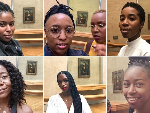 Darian Symoné Harvin asks black women to share photos of themselves in front of the Mona Lisa