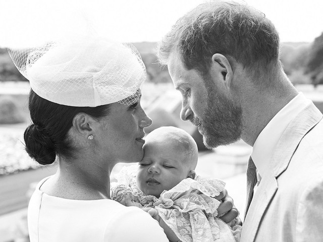 Meghan & Harry Share Archie's Christening Pics & What They Didn't Reveal Is Fascinating