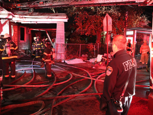 Three squatters dead after fire rips through abandoned Queens home