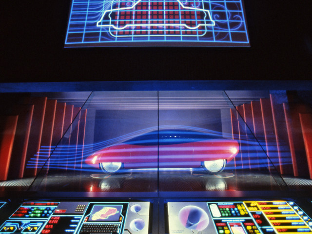 Epcot's World of Motion exhibit updated GM's Motoramas and Futurama for a new generation