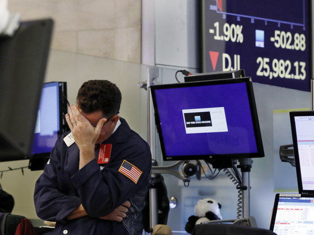 U.S. stocks post their largest one-day losses of 2019