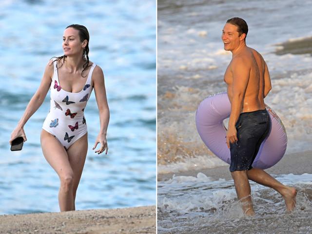 Brie Larson and boyfriend Elijah Allan-Blitz hit the beach in Hawaii