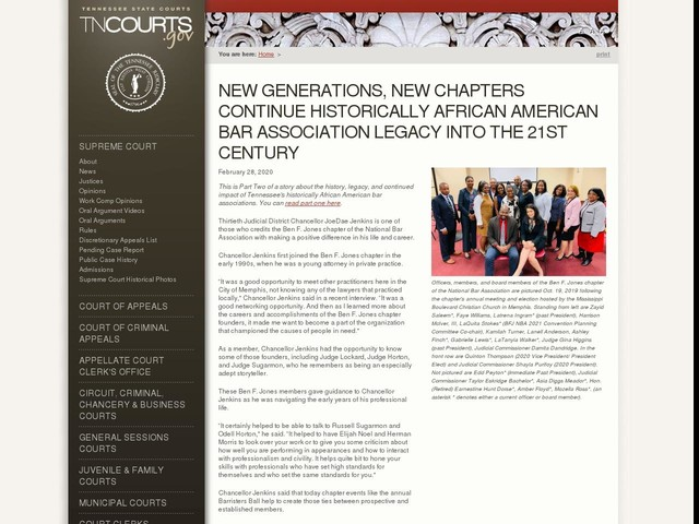 New Generations, New Chapters Continue Historically African American Bar Association Legacy Into the 21st Century