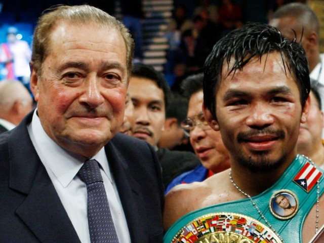Manny Pacquiao is risking brain damage by fighting in his 40s, his former promoter says