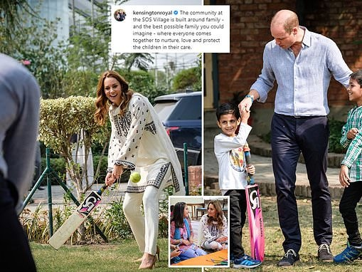 Kate Middleton shares her FIRST Instagram post with emotional photographs from Pakistan